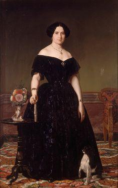 Doña Antonia Roca by Ángel María Cortellini y Hernandez (Museo de Bellas Artes de Valencia) | Grand Ladies | gogm