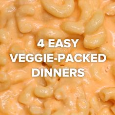 4 Easy Veggie-Packed Dinners #vegetables #nutrition #dinner #burger #macandcheese