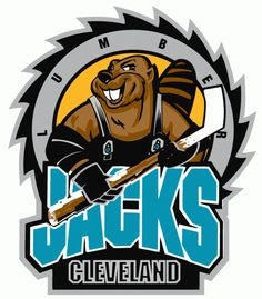 Cleveland Lumberjacks Primary Logo on Chris Creamer's Sports Logos Page - SportsLogos. A virtual museum of sports logos, uniforms and historical items. Hockey Logos, Nhl Logos, Sports Team Logos, Hockey Teams, Sports Art, Ice Hockey, Sports Teams, Cleveland Team, American Hockey League