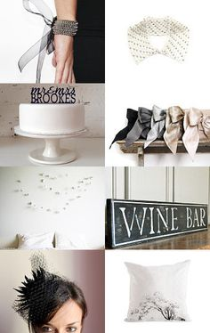 a black white wedding day, etsy treasury