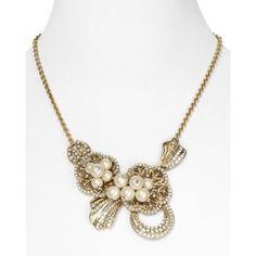 Carolee LUX Antique Garden Ornate Frontal Necklace