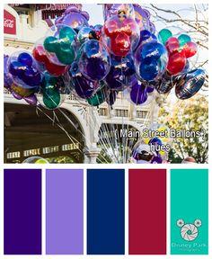 Disney Park Photography - Photo: Main Street Balloon Colors