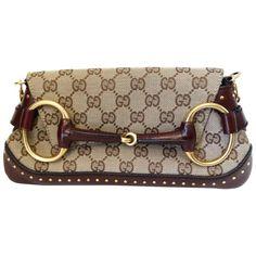 d74073be2c7 Tom Ford for Gucci Monogram Horsebit Chain Shoulder Bag