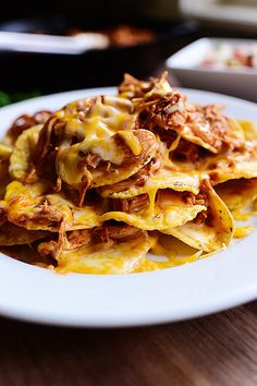 Delicious chicken nachos. Another great Pioneer Women recipe