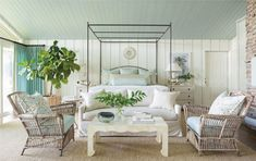 In Good Taste: Heather Chadduck Interiors Princess And The Pea, Building A New Home, Bungalow, New Homes, Bedroom Retreat, Master Bedroom, Interior Design, Rattan, Wicker