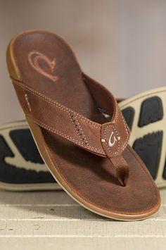 80c4abe9c756 Men s OluKai Nui Leather Sandals