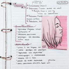 (Abril) Anotações de classe sobre realismo machadiano    #study #studyspo #studygram #studyblr #studying #art #drawing   