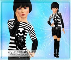 Baby Gothic dress at Anarchy-Cat and Torri - Sims 3 Finds