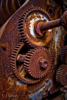 Rusty Gears by jsinon - J. Rust Never Sleeps, Growth And Decay, Color Palette Generator, Rust In Peace, Rusted Metal, Peeling Paint, Iron Oxide, Wabi Sabi, Abandoned