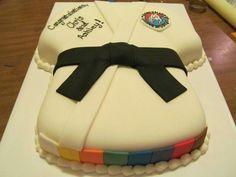 Black Belt Karate Cake