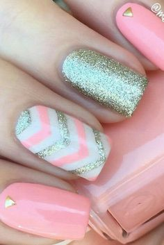Best ideas about different glitters nail design color and style