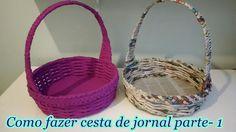 Como fazer cesta de jornal parte- 1