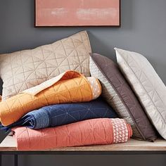 Nomad Coverlet + Shams - accent quilt for rooms to add a pop of color