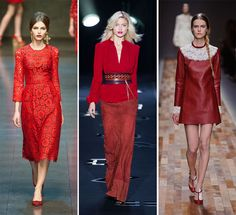 Red is the new black | Fall Winter 2014