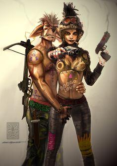 """Bekijk mijn @Behance-project: """"Tank Girl and Booga"""" https://www.behance.net/gallery/46434923/Tank-Girl-and-Booga"""
