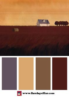 Natural color palette inspired by: Homeland I, Art Print by Tandi Venter