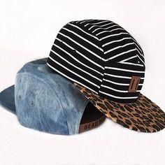 Beau Hudson Beau Hudson Stripes on leopard cap