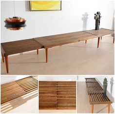 Expanding slat bench - exactly what I want for a coffee tabl