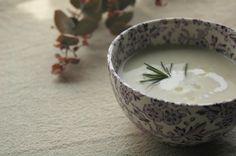 日替わりスープ。里芋のポタージュ。カボスを絞って。