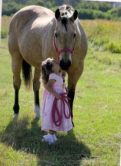Every horse deserves, at least once in his life, to be loved by a little girl. ***********Turner Ranch Evanston -WY.********* GO WY Cowgirls!!