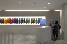 rainbow store display.