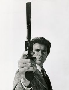 "Clint Eastwood as Dirty Harry, 44 magnum, ""Do you feel lucky, punk?"""