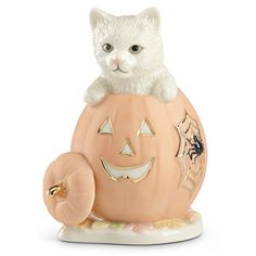 Kitty's Halloween Surprise Figurine By Lenox