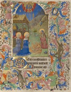 The Nativity, Spitz Master, French, Paris, about 1420