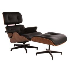 The Matt Blatt Replica Eames Lounge Chair and Ottoman - Premium Version by Charles and Ray Eames - Matt Blatt
