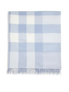 Burberry - Mega Check Merino Wool Baby Blanket