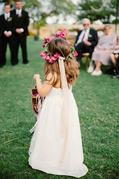flower girl - photo by The Melideos http://ruffledblog.com/bougainvillea-estate-wedding