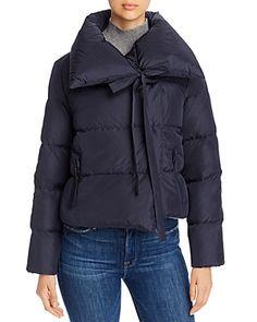 Bacon Oversized Cropped Down Coat Women - Bloomingdale's Warm Down, Long Ties, Down Coat, World Of Fashion, Coats For Women, Bacon, Bomber Jacket, Winter Jackets, Long Sleeve