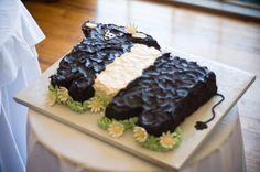 #Beltie #groom's cake from a #spring #wedding    LOVE, LOVE, LOVE the Belties!!