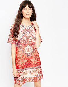 Image 1 ofASOS Tile Print T-Shirt Dress