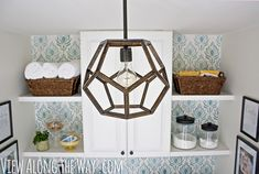 DIY Furniture Store KnockOffs - Do It Yourself Furniture Projects Inspired by Pottery Barn, Restoration Hardware, West Elm. Tutorials and Step by Step Instructions  |   Ralph Lauren Inspired DIY Dodecahedron Pendant Light  |   http://diyjoy.com/diy-furniture-store-knockoffs