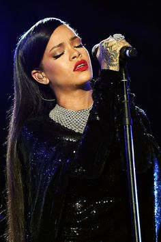 Rihanna performing at 'The Concert in Valor' in...