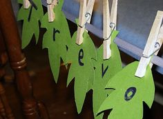 : Preschool Fall Activities Color activity is great! Leaf names great for calendar headings!