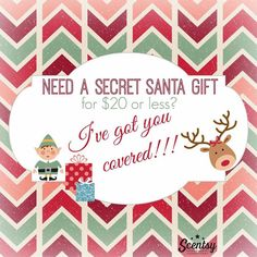 Need a Secret Santa Gift? Scentsy has you covered! I have suggestions if you need help! Gifts from $3-$130.