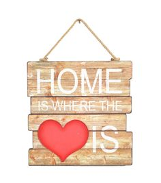 Valentine's Day Wall Decor-Home Is Where The Heart Is