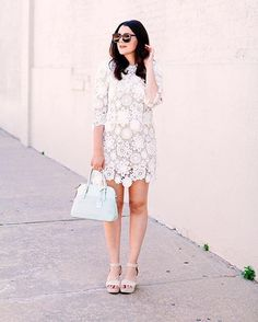 Swap out your go-to spring lace for @kendieveryday's crochet number | Shop her look with www.LIKEtoKNOW.it | http://liketk.it/2obPx #liketkit