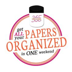 Get ALL Your Papers Organized in ONE Weekend Kit!
