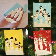 Handprint Snowman Ornament Tutorial - U Create Christmas for you - Happy Christmas - Noel 2020 ideas-Happy New Year-Christmas Kids Crafts, Christmas Crafts For Kids, Christmas Art, Christmas Projects, Holiday Crafts, Snowman Cards For Kids, Christmas Cards Handmade Kids, Clay Crafts, Felt Crafts