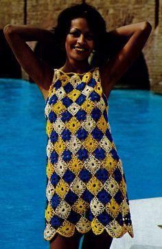 Crochet Beach dress Vintage Crochet Pattern Download by MomentsInTwine on Etsy