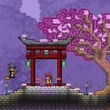 Post with 4789 views. Japanese Castle, Japanese Temple, Japanese House, Terraria House Design, Terraria House Ideas, Terraria Memes, Terraria Tips, Terraria Castle, Minecraft Designs