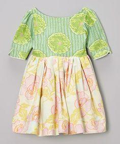 Loving this Pistachio & Pink Floral Dress - Infant, Toddler & Girls on #zulily! #zulilyfinds