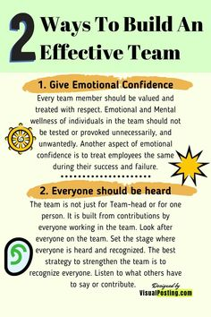 2 Ways to Build an Effective Team - Leadership Effective Leadership Skills, Leadership Strategies, Leadership Lessons, Leadership Coaching, Leadership Development, Job Interview Preparation, Job Interview Tips, Management Tips, Project Management