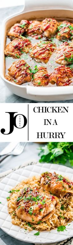 Chicken in a hurry - the name says it all. This is the perfect chicken dish for a busy weeknight, but good enough for a fancy weekend meal. Sweet and tangy, super easy and inexpensive!