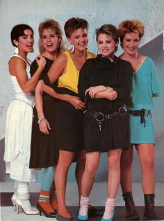 The Go Go's-1985 -- looking super cute.