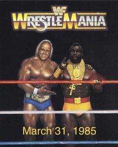 Vintage Original 1985 WWF WrestleMania 1 Souvenir Program - Hulk Hogan & Mr T Wwf Poster, Posters, Wwe Hulk Hogan, Mr T, Wrestling Superstars, Wrestling Wwe, Famous Sports, Andre The Giant, Lucha Libre