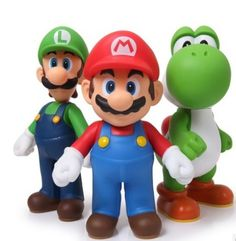 2014 Retail Free shipping 3pcs/set Super Mario Bros Luigi Mario Action Figures Toys Doll Free shipping-in Action & Toy Figures from Toys & Hobbies on Aliexpress.com | Alibaba Group